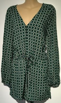 H&M GREEN PRINT LONG SLEEVED PLAYSUIT BNWT SIZE 10